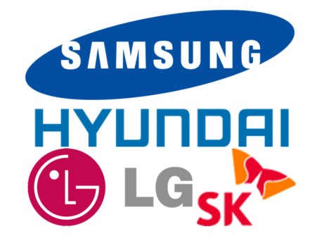 Samsung Hyundai LG SK
